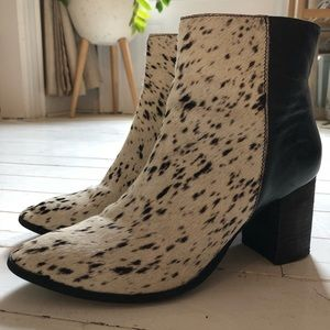 Stunning leather calf hair boots